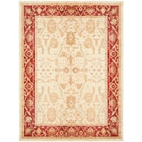 Safavieh Oushak Cream/ Red Oriental Rug - 4' x 5'-7""