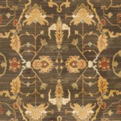 Safavieh Oushak Heirloom Traditional Brown/ Rust Rug (4' x 5'7) - Thumbnail 2