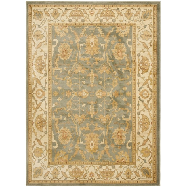 Safavieh Oushak Heirloom Traditional Blue/ Cream Rug (4' x 5'7)