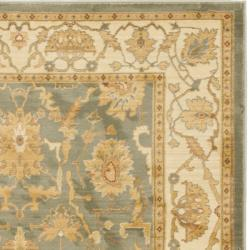 Safavieh Oushak Heirloom Traditional Blue/ Cream Rug (4' x 5'7) - Thumbnail 1