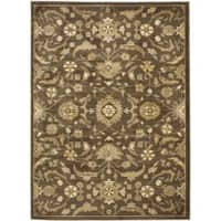 Safavieh Oushak Heirloom Traditional Brown/ Green Area Rug - 4' x 5'7'