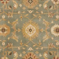 Safavieh Oushak Blue/ Gold Powerloomed Rug (4' x 5'7) - Thumbnail 2