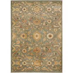 Safavieh Oushak Blue/ Gold Powerloomed Rug (4' x 5'7)