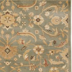 Safavieh Oushak Blue/ Gold Powerloomed Rug (5'3 x 7'6)
