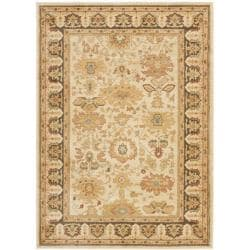 Safavieh Oushak Cream/ Brown Powerloomed Rug (4' x 5'7)