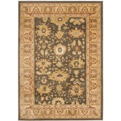 Safavieh Oushak Brown/ Rust Powerloomed Rug (5'3 x 7'6)