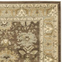 Safavieh Oushak Heirloom Traditional Brown/ Green Rug (4' x 5'7) - Thumbnail 1