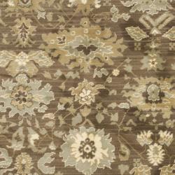Safavieh Oushak Heirloom Traditional Brown/ Green Rug (4' x 5'7) - Thumbnail 2