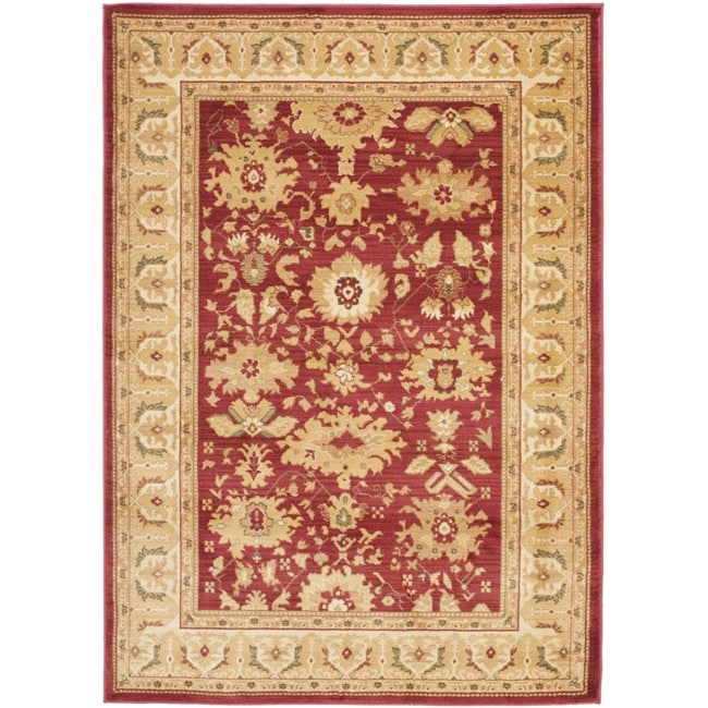 Safavieh Oushak Red/ Cream Powerloomed Rug (5'3 x 7'6) - Thumbnail 0