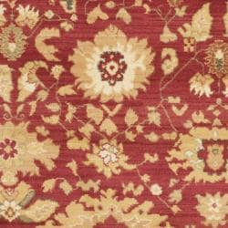 Safavieh Oushak Red/ Cream Powerloomed Rug (5'3 x 7'6) - Thumbnail 2