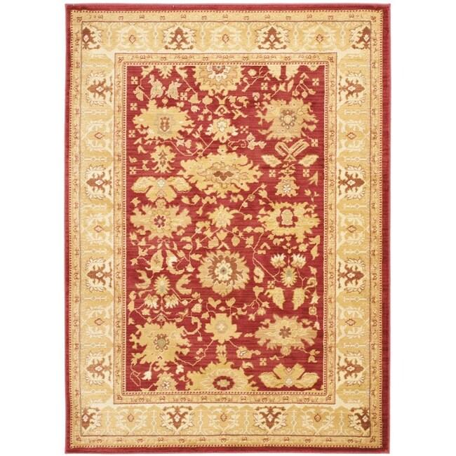 Safavieh Oushak Red/ Gold Powerloomed Rug (4' x 5'7)