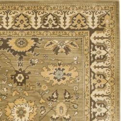 Safavieh Oushak Green/ Brown Powerloomed Rug (4' x 5'7)