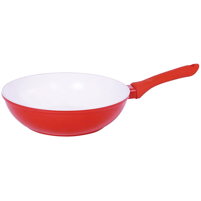 Vinaroz Red Die Cast Aluminum 12-inch Wok - Thumbnail 0