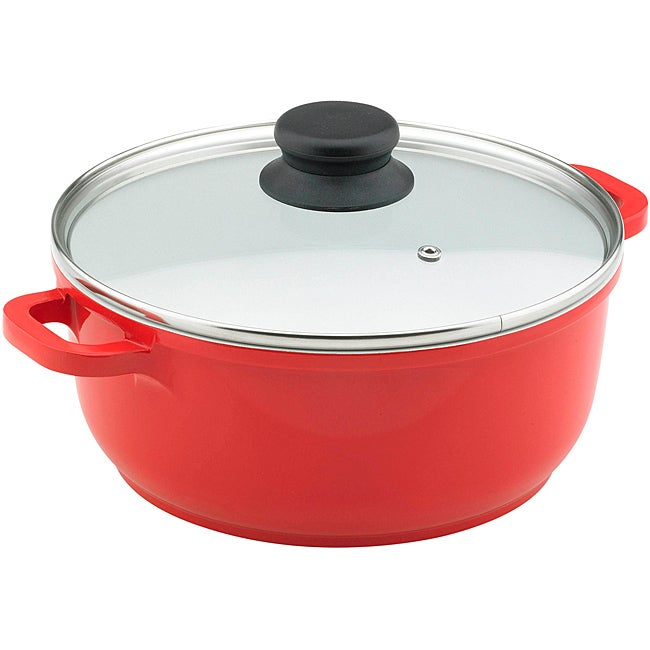 Vinaroz Red 11-in 6.8-quart Die Cast Aluminum Casserole