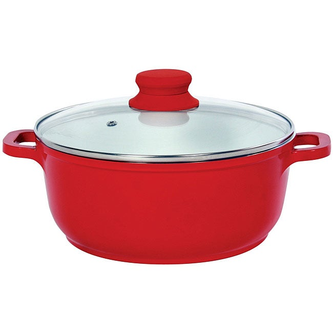 Vinaroz Red Die Cast Aluminum 9.5-inch 4.2-quart Casserole