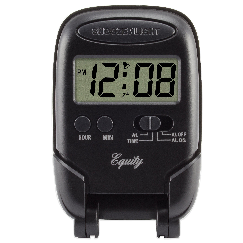 La Crosse Equity Digital Travel Alarm Clock (Silver) (Metal)