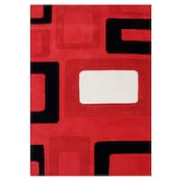 Alliyah Handmade Red New Zealand Blend Wool Rug - 8' x 10'