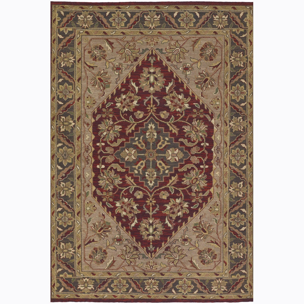 Artist's Loom Hand-knotted Traditional Oriental Wool Rug (5'x7'6)