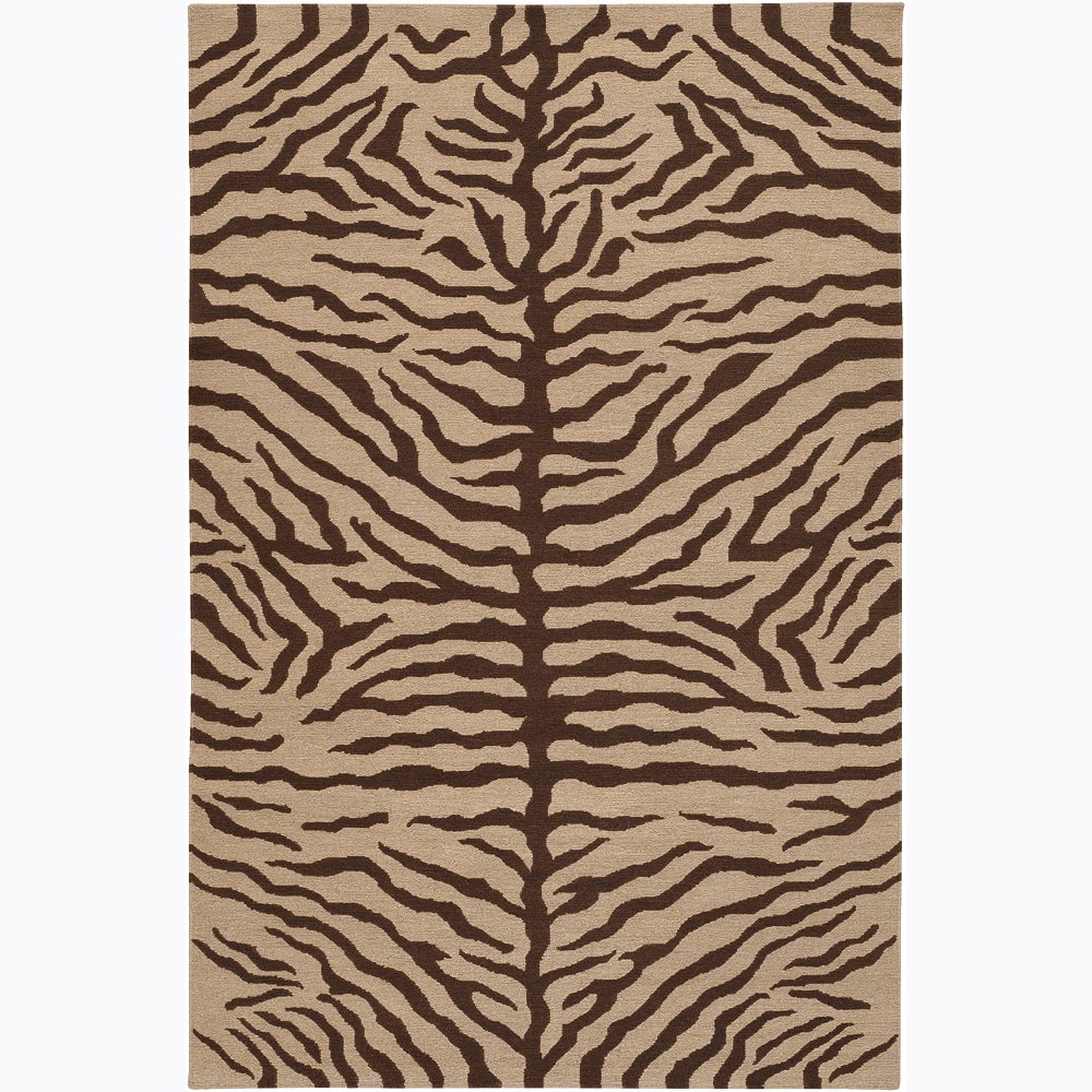 Artist's Loom Hand-knotted Contemporary Animal Print Wool Rug (5'x7'6)