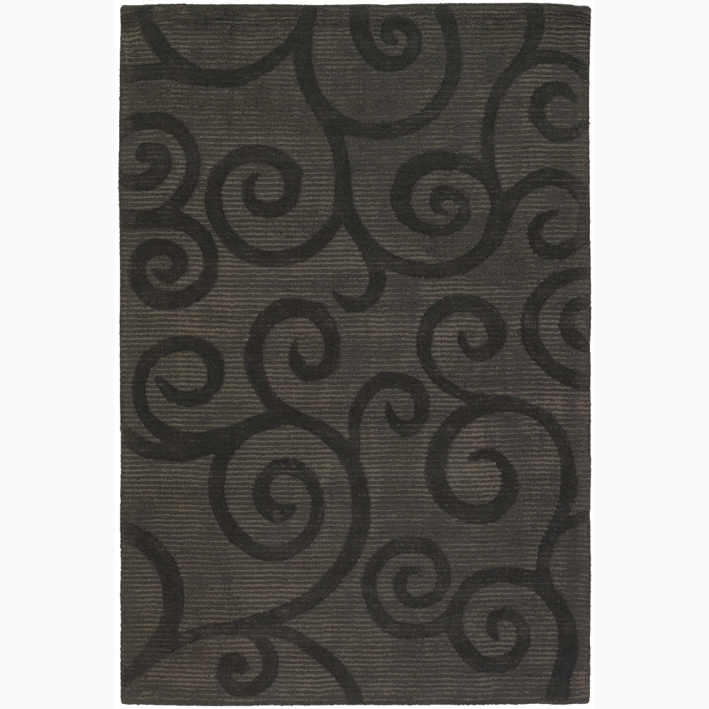 Artist's Loom Hand-tufted Transitional Floral Rug - 5' x 7'6""