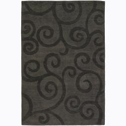 "Artist's Loom Hand-tufted Transitional Floral Rug - 5' x 7'6"" - Thumbnail 0"