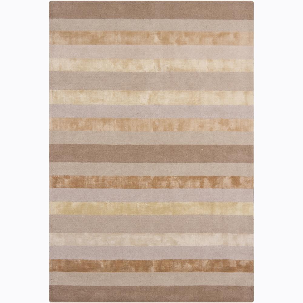 Artist's Loom Hand-tufted Contemporary Stripes Rug (5' x 7'6)