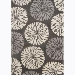 Artist's Loom Hand-tufted Transitional Floral Wool Rug (5'x7') - 5' x 7' - Thumbnail 0