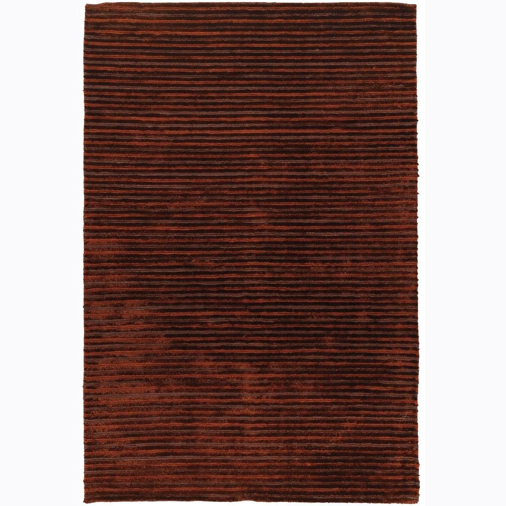 Artist's Loom Hand-woven Shag Rug - 9' x 13'