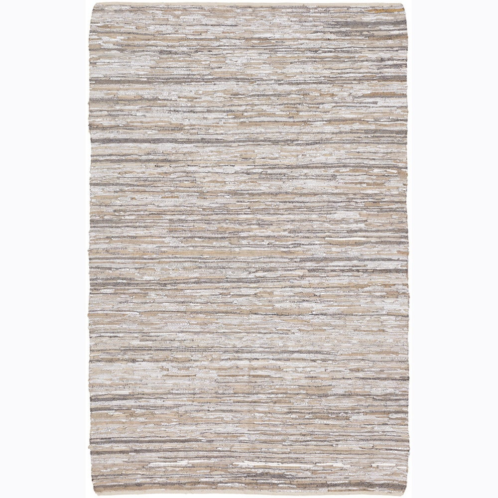 Artist's Loom Hand-woven Contemporary Natural Eco-friendly Fiber Reversible Rug (5' x 7'6)