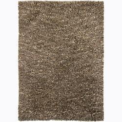 Handwoven 1.5-Inch Wool Mandara Shag Rug (9' x 13')