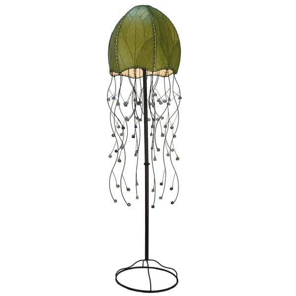 Handmade Green Jellyfish Floor Lamp (Philippines)