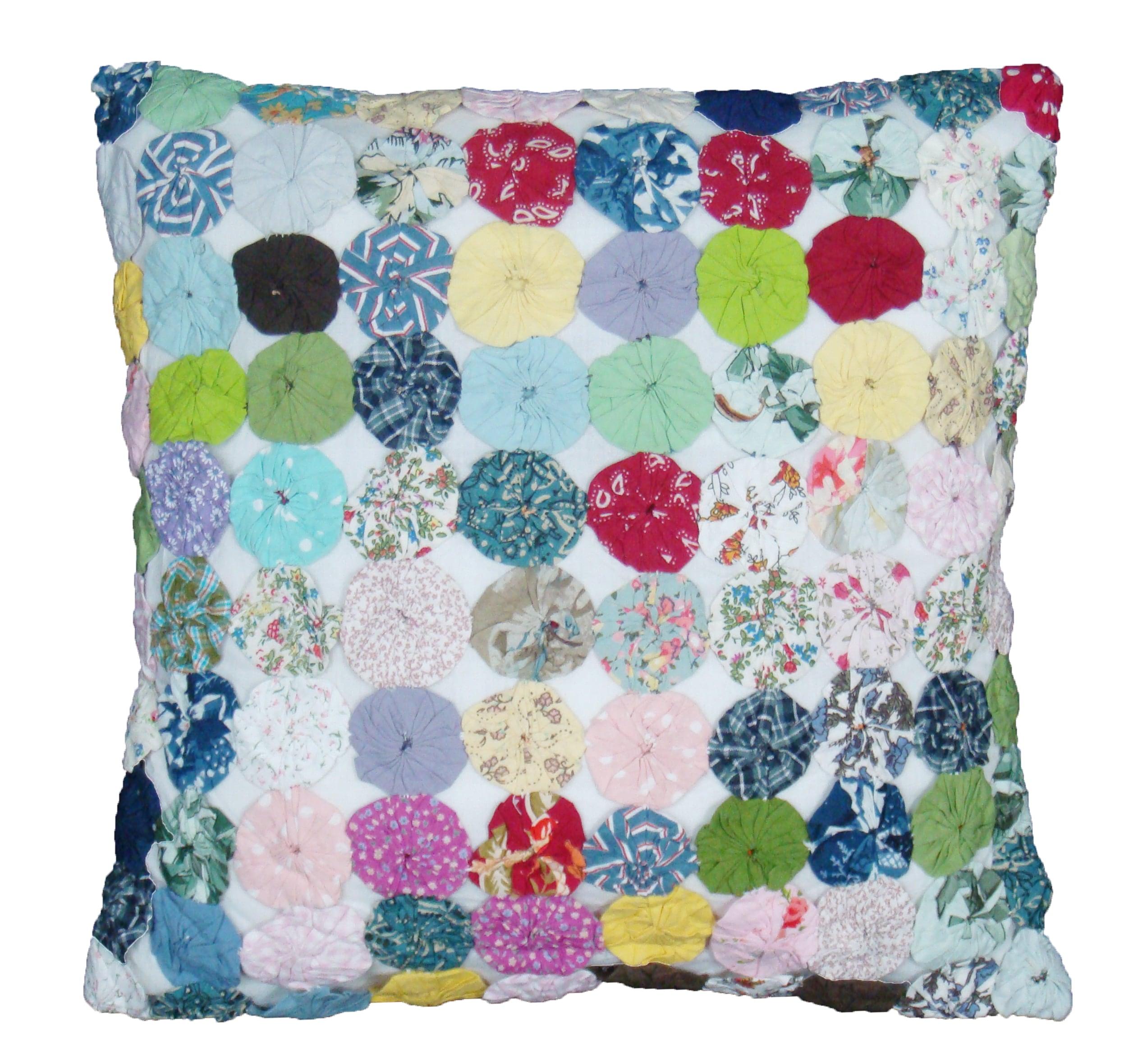 Cottage Home 'Yo Yo' 16-inch Square Decorative Pillow