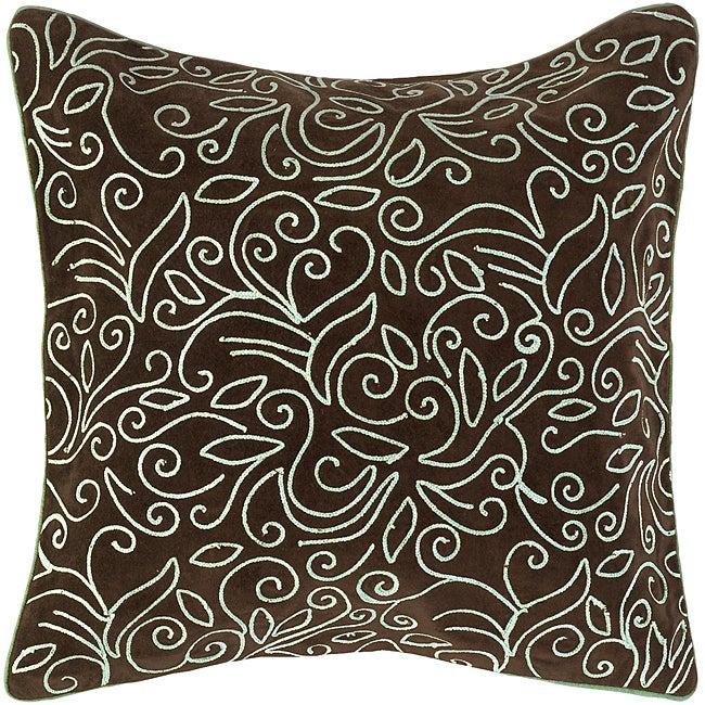 Down Filled 'Barre' 18-inch Square Decorative Pillow