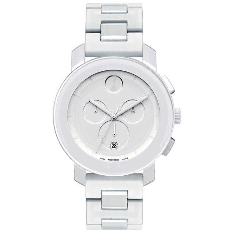 Movado Bold 3600057 White Chronograph Watch