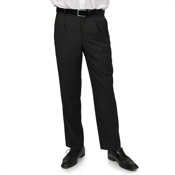Adolfo Men's Black Stripe Suit Separate Pants