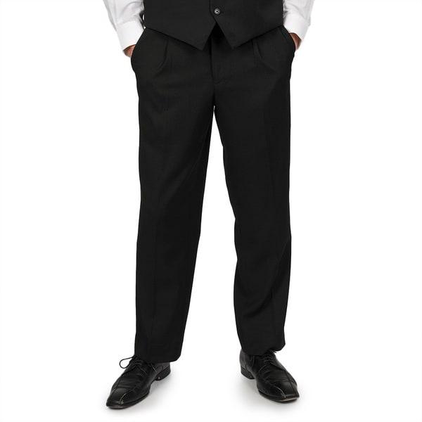 Adolfo Men's Solid Black Suit Separate Pants
