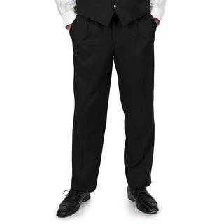 Adolfo Men's Solid Black Suit Separate Pants (2 options available)