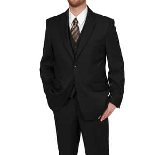 Adolfo Men's Solid Black 2-button Suit Separate Coat (Option: 50r)|https://ak1.ostkcdn.com/images/products/6412595/P14020531.jpg?impolicy=medium