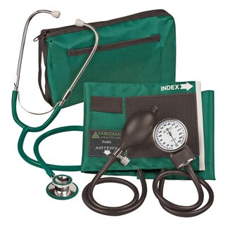 Veridian 02-12706 Aneroid Sphygmomanometer with Dual-head Stethoscope Adult Kit