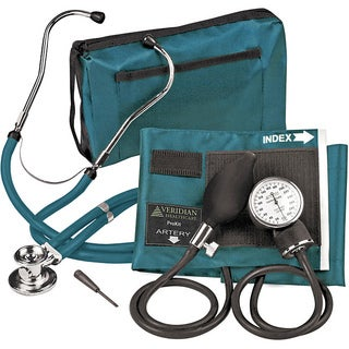 Adjustable Aneroid Sphygmomanometer with Sprague Stethoscope Adult Kit