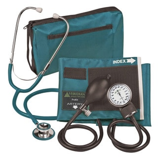 Veridian 02-12713 Aneroid Sphygmomanometer with Dual-head Stethoscope Adult Kit