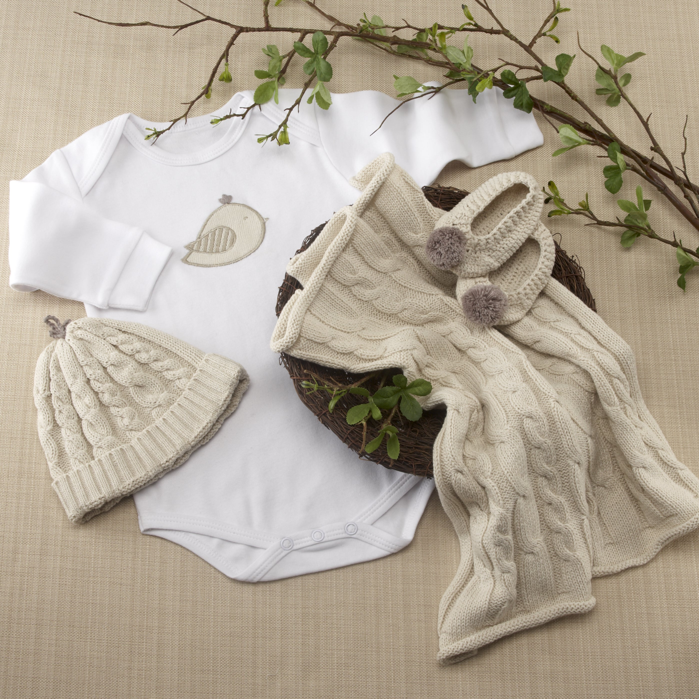 Baby Aspen 'Feathering the Nest' 4-piece Layette Gift Set