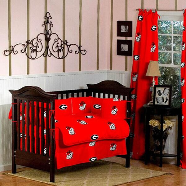 Shop Georgia Bulldogs 5 Piece Crib Bedding Set Free