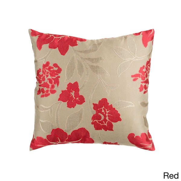 Damask 22-inch Floral Pillow