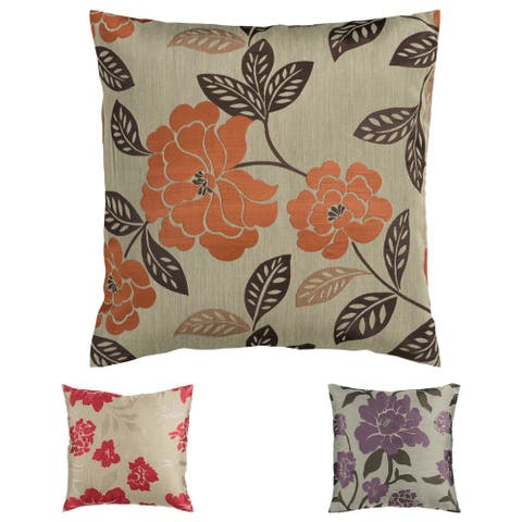 Floral Jacquard Feather Down Pillow