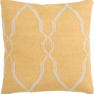 Decorative Faz Feather Down Pillow (Yellow - 22 x 22)