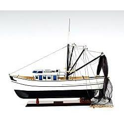 Old Modern Handicrafts Shrimp Boat Model - Thumbnail 1