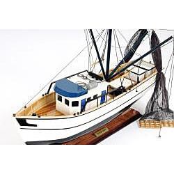 Old Modern Handicrafts Shrimp Boat Model - Thumbnail 2