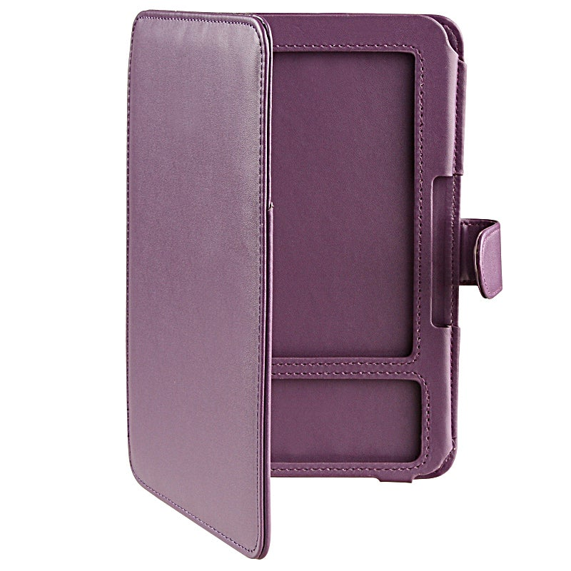INSTEN Purple Leather Phone Case Cover for Amazon Kindle 3