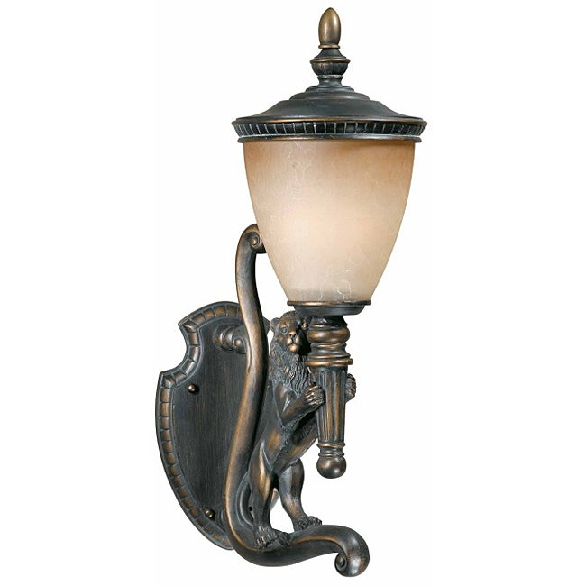 Triarch International Lion 27-inch Right Side Outdoor Wall Light